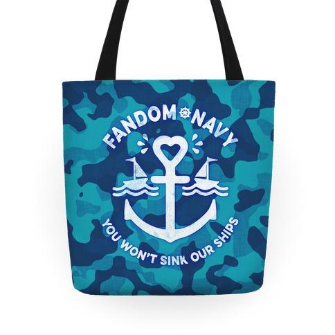 Fandom Navy Tote