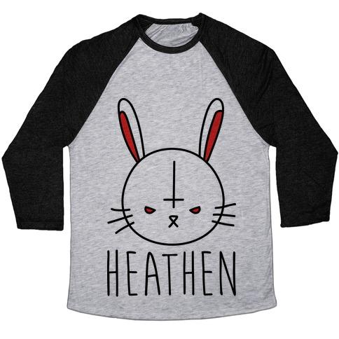Heathen Easter Bunny Baseball Tee