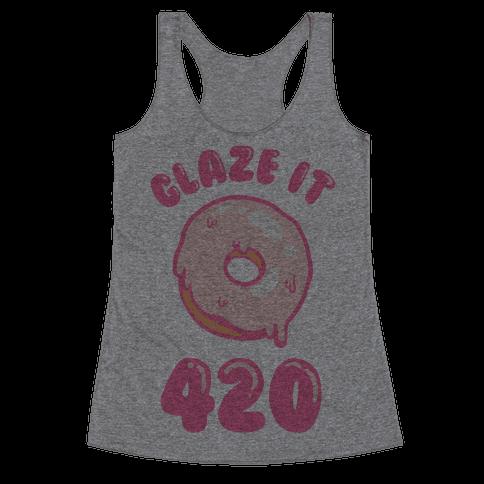 Glaze It 420 Donut Racerback Tank Top