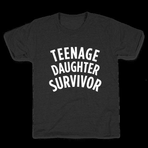 Teenage Daughter Survivor (Dark) Kids T-Shirt