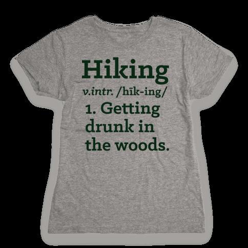Hiking Definition Womens T-Shirt