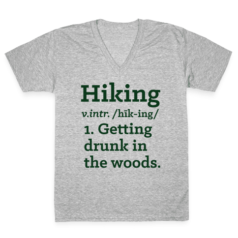 Hiking Definition V-Neck Tee Shirt