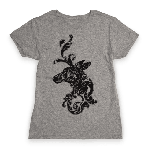 Decorative Deer Head Womens T-Shirt