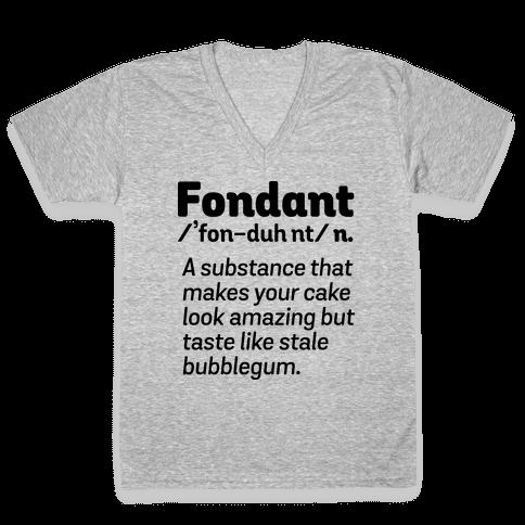 Fondant Definition V-Neck Tee Shirt