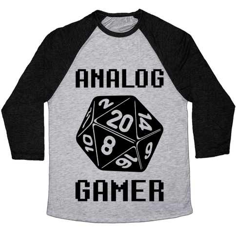 Analog Gamer Baseball Tee