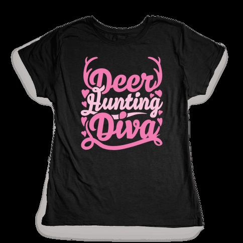 Deer Hunting Diva Womens T-Shirt