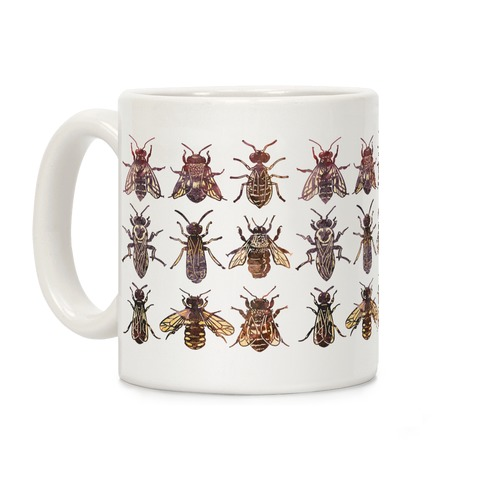 Bee Species Pattern Coffee Mug