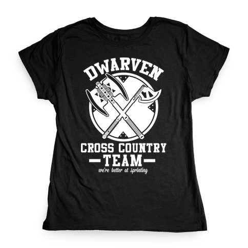 Dwarven Cross Country Team Womens T-Shirt