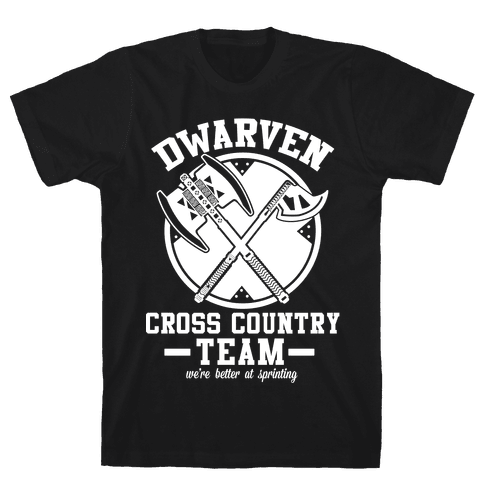Dwarven Cross Country Team Mens T-Shirt