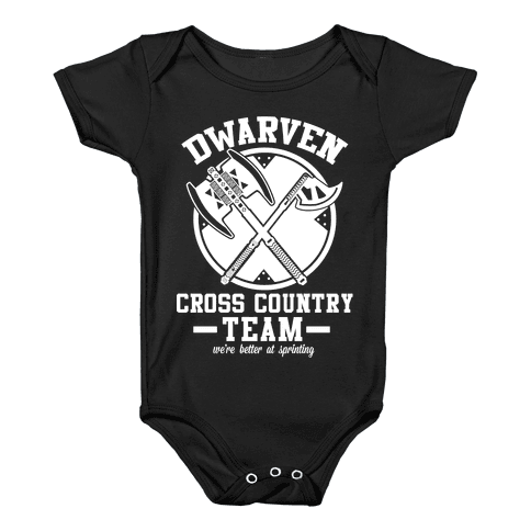 Dwarven Cross Country Team Baby Onesy