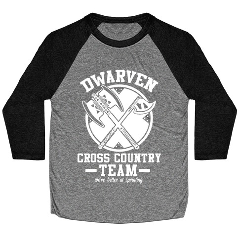 Dwarven Cross Country Team Baseball Tee