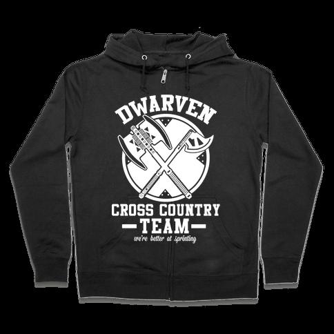 Dwarven Cross Country Team Zip Hoodie