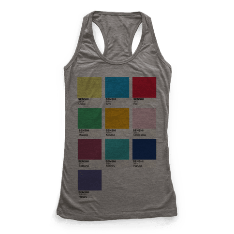 Magical Girl Color Swatch Parody Racerback Tank Top