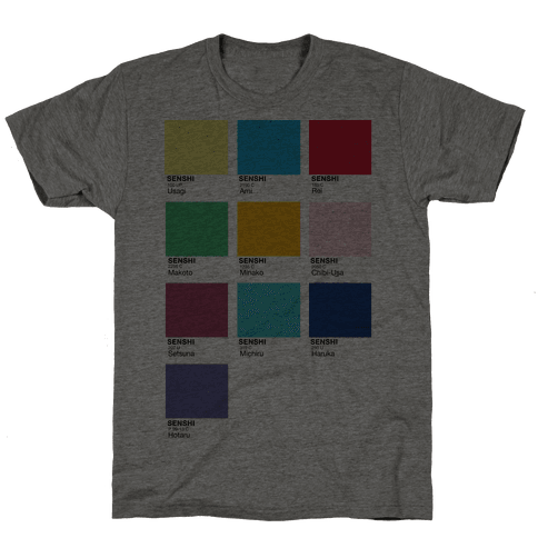 Magical Girl Color Swatch Parody Mens T-Shirt