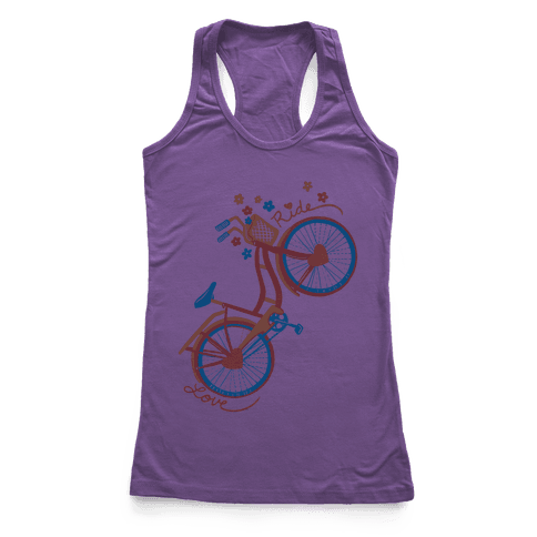 Love Your Ride: Colorful Bicycle Racerback Tank Top