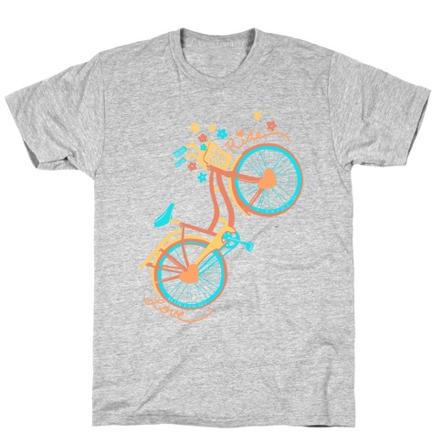 Love Your Ride: Colorful Bicycle T-Shirt