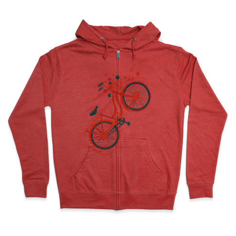 Love Your Ride: Colorful Bicycle Zip Hoodie