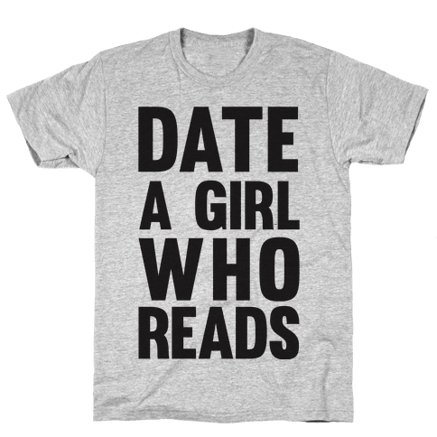 Date A Girl Who Reads Mens T-Shirt