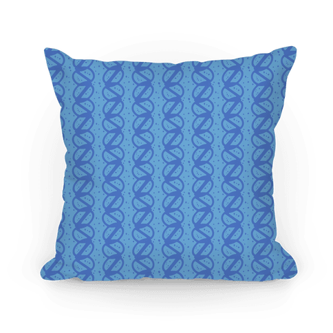 Blue Braid Stripe Pattern Pillow