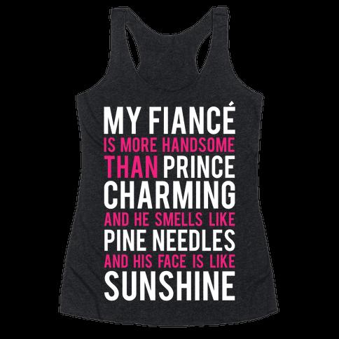 My Fiance (Prince Charming) Racerback Tank Top