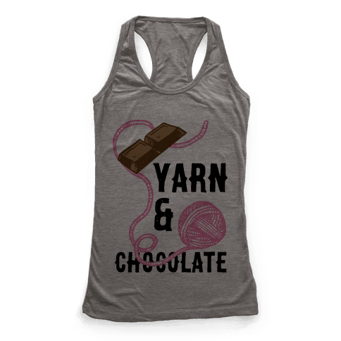 Yarn And Chocolate Racerback Tank Top