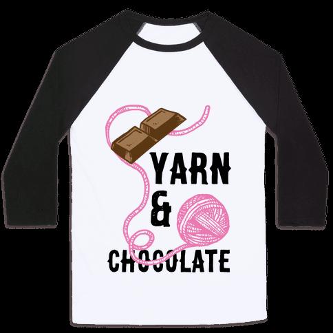 Yarn And Chocolate Baseball Tee