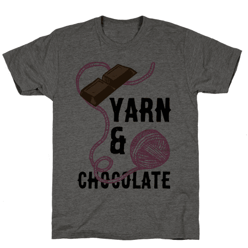 Yarn And Chocolate Mens T-Shirt