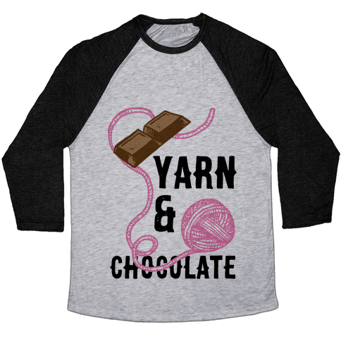 Yarn And Chocolate Baseball Tee
