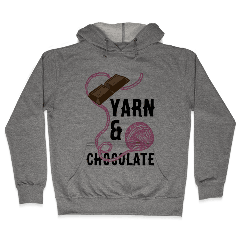 Yarn And Chocolate Hooded Sweatshirt