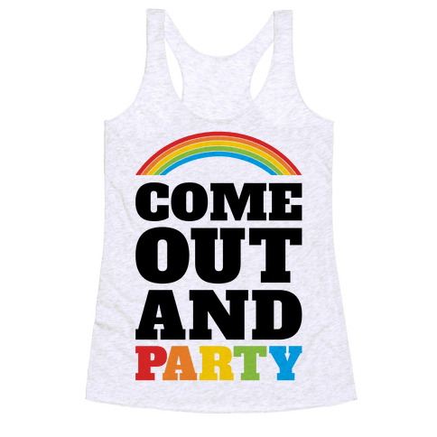 Come Out and Party Racerback Tank Top