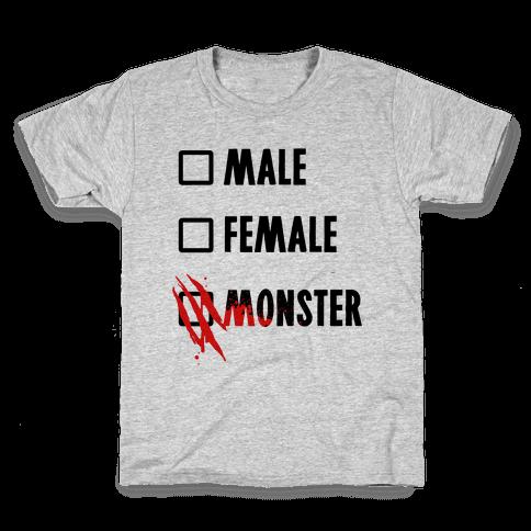 Male Female Monster Kids T-Shirt