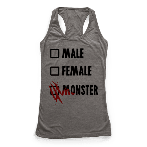 Male Female Monster Racerback Tank Top