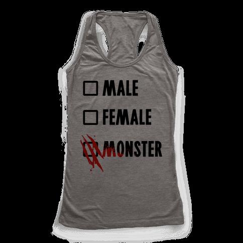Male Female Monster Racerback Tank Top