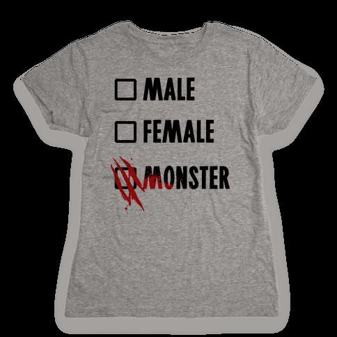 Male Female Monster Womens T-Shirt