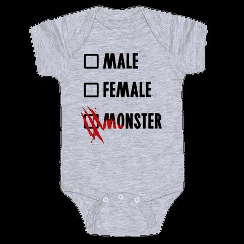 Male Female Monster Baby Onesy