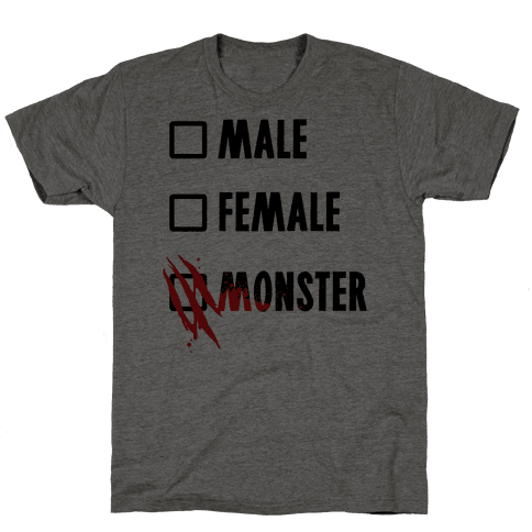 Male Female Monster Mens T-Shirt
