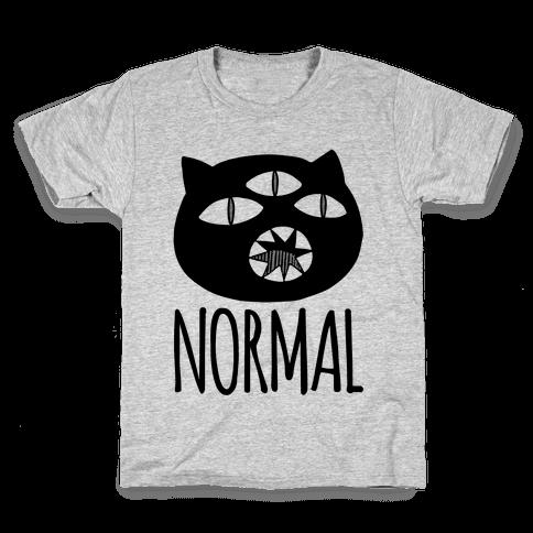 Completely Normal (Kuro cat) Kids T-Shirt
