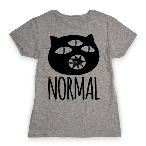 Completely Normal (Kuro cat) Womens T-Shirt