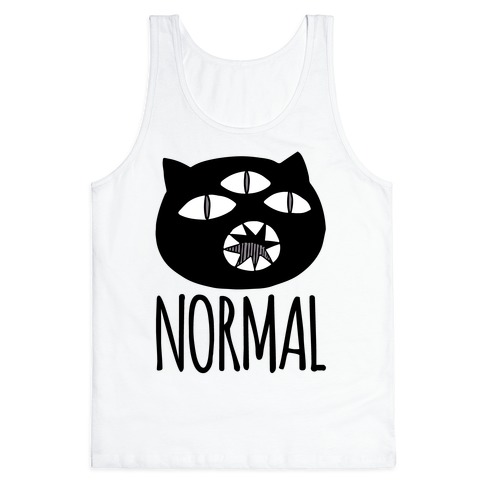 Completely Normal (Kuro cat) Tank Top