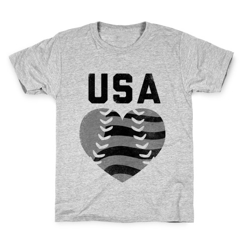 USA Baseball Love (Baseball Tee) Kids T-Shirt