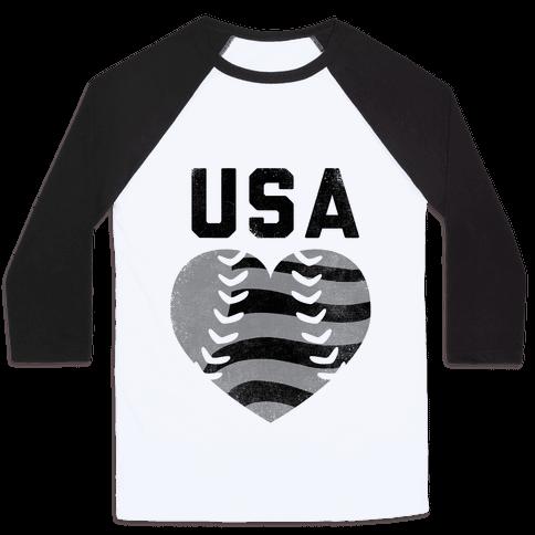 USA Baseball Love (Baseball Tee)