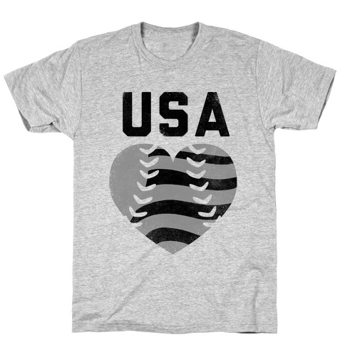 USA Baseball Love (Baseball Tee) T-Shirt
