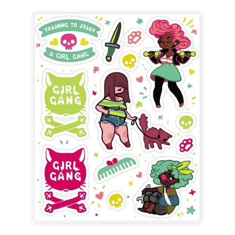 Girl Gang Sticker and Decal Sheet