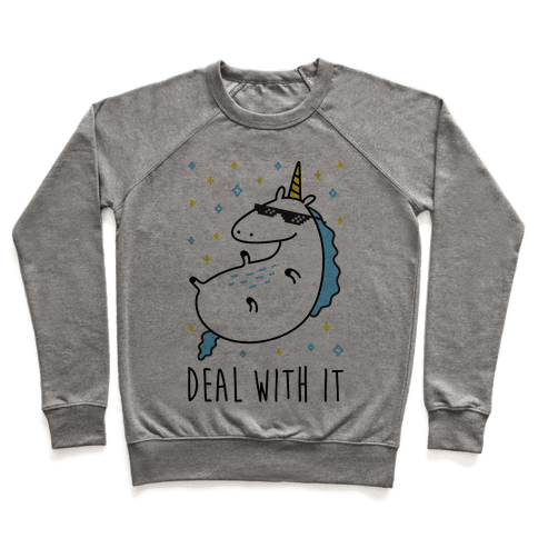 Deal With It Unicorn Pullover