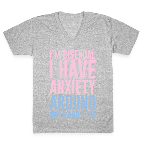 Bisexual Anxiety V-Neck Tee Shirt