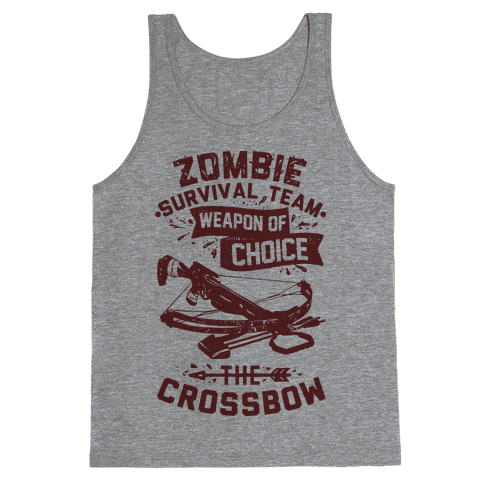 Zombie Survival Team Weapon Of Choice The Crossbow Tank Top