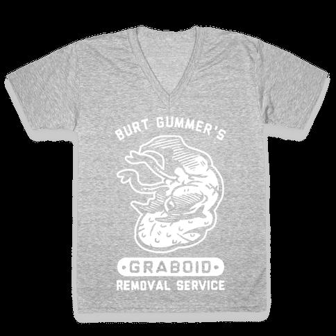 Burt Gummer's Graboid Removal Service V-Neck Tee Shirt