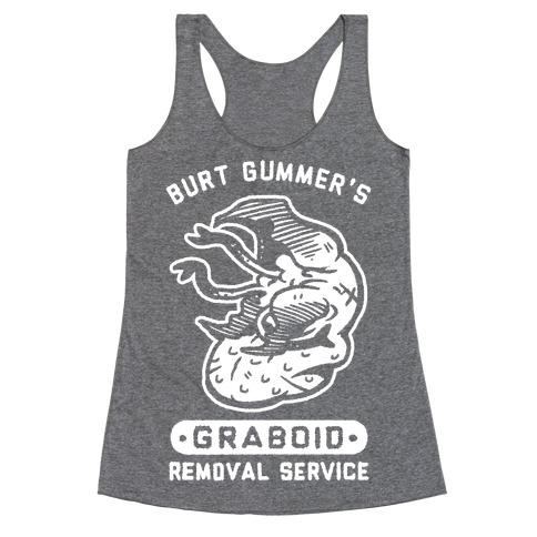 Burt Gummer's Graboid Removal Service Racerback Tank Top