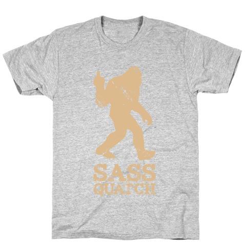 Sass Quatch Crossing T-Shirt