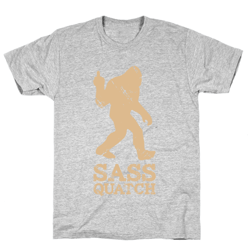 Sass Quatch Crossing Mens T-Shirt